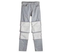 Jeans aus Baumwolle im Layer Look