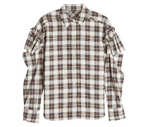 Karierte Bluse mit Baumwolle, Rüschen und Cut Outs