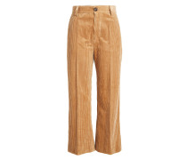 Cropped Pants aus Cord
