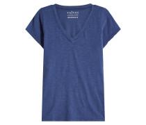 T-Shirt Jilian mit V-Ausschnitt aus Baumwolle