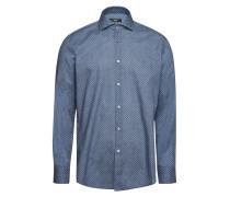 Gemustertes Slim-Fit-Hemd Jason aus Baumwolle