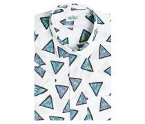 Bedrucktes Kurzarm-Hemd aus Baumwolle