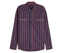 Gestreiftes Hemd aus Baumwolle mit Paspeln