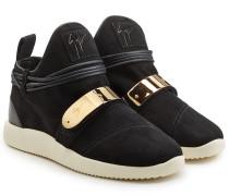 High Top Sneakers aus Veloursleder