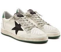 Sneakers Ball Star aus Leder und Veloursleder