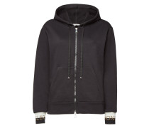 Bestickter Zipper-Hoodie aus Baumwolle