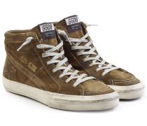High Top Sneakers Slide aus Veloursleder