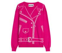 Pullover aus Schurwolle mit Biker-Muster