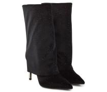 Ankle Boots Babette mit Glitzer-Finish mit Leder