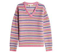 Gestreifter Pullover aus Kaschmir