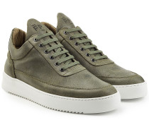 Low Top Sneakers Ghost aus Veloursleder