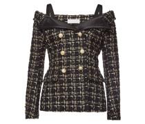 Tweedjacke mit Bardot-Ausschnitt