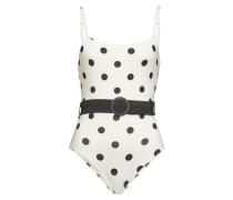Swimsuit The Nina mit Polka-Dots und Gürtel