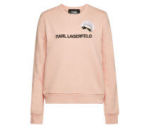 Besticktes Sweatshirt Karl Dots Ikonik aus Baumwolle