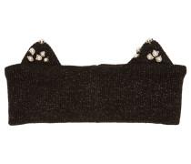 Stirnband mit Katzenohren, Perlen und Lurex-Fäden
