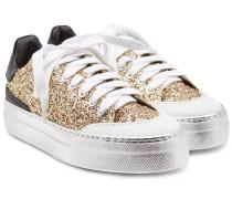 Sneakers Gymnic aus Leder mit Glitter