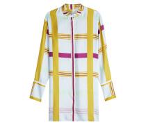 Blusenkleid aus Seide im Color Block Look