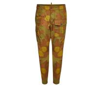 Bedruckte Cargo Pants aus Baumwolle