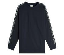 Sweatshirt aus Baumwolle mit Logo-Borten