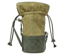 Bucket Bag Sully Small aus Veloursleder und Leder