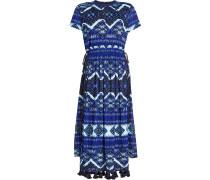 Bedrucktes Kleid mit Zierquasten