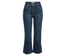High Rise Cropped Jeans mit ausgefranstem Saum