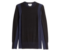 Pullover aus Merinowolle im Two-Tone-Look