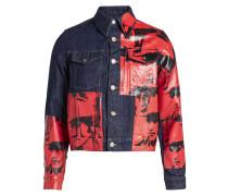 X Andy Warhol Bedruckte Jeansjacke
