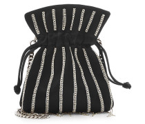 Verzierte Bucket-Bag Nano Trilly Disco Stripes