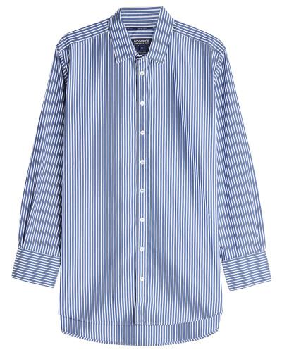 Gestreiftes Hemd mit Baumwolle