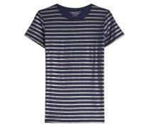 Gestreiftes T-Shirt aus Baumwolle und Kaschmir