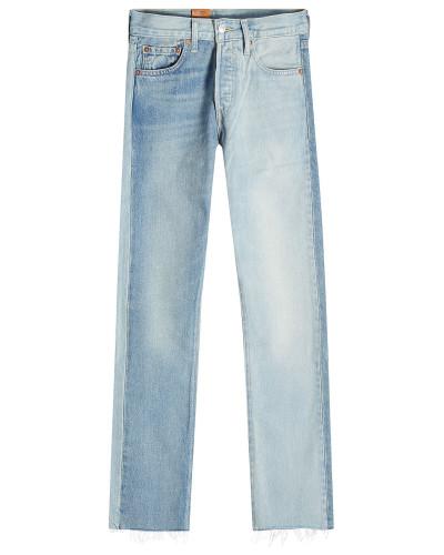 Straight Leg Jeans mit ausgefransten Säumen