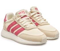 Sneakers I-5923 aus Stoff und Veloursleder