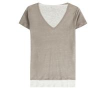 Leinen-Shirt im Layering-Look