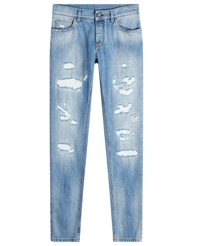 Straight Leg Jeans im Distressed-Look