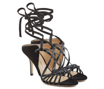Sandalen aus Leder mit Fesselriemen