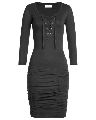 Geschnürtes Kleid aus Baumwolle