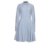 Gestreiftes Hemdblusenkleid Victoria aus Baumwolle