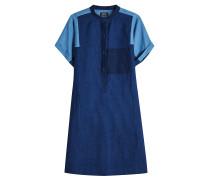 Jeanskleid Temple aus Baumwolle und Leinen im Patchwork-Stil