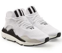 Gewebte Sneakers Saikou aus Mesh mit Veloursleder