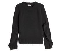 Pullover aus Schurwolle mit Volants