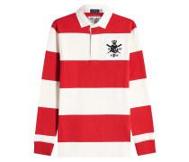 Gestreiftes Poloshirt aus Baumwolle mit Patch