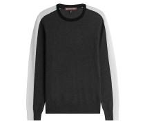 Strickpullover im Colorblock-Look mit Wolle