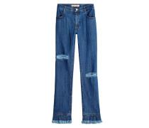 Bootcut Jeans Bob mit Fransen aus Baumwolle