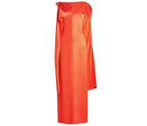 Drapiertes Abendkleid aus Satin