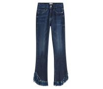 Straight Leg Jeans Le Crop Mini Boot Shredded Raw