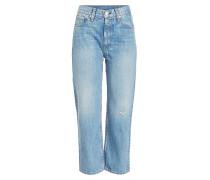 Cropped Boyfriend Jeans im Used Look