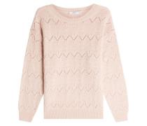 Pullover mit Alpaka-Wolle und Lochmuster