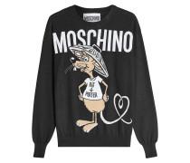 Pullover aus Schurwolle mit Motiv