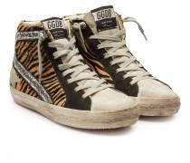 High Top Sneakers Slide aus Kalbsfell